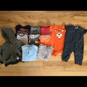 BABY BOYS 3-6 6 MO LOT CAT & JACK CARTERS OLD NAVY